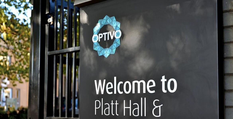 welcome to platt hall sign