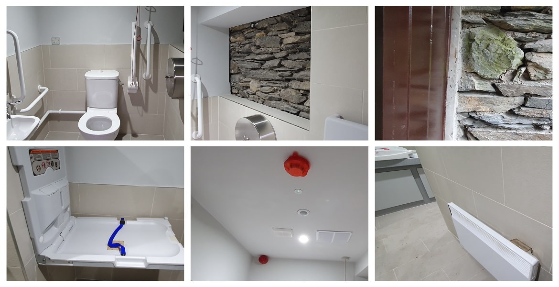 refurbishment of bathroom at Stott Park Bobbin Mill Complete