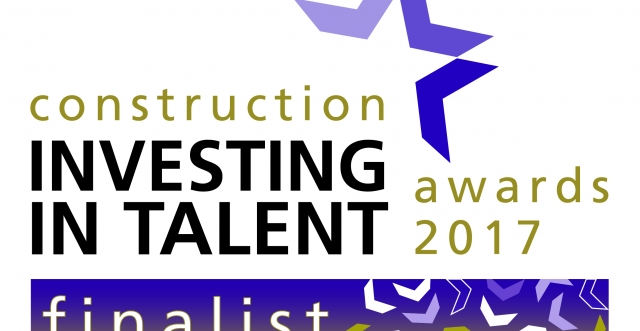 We've been shortlisted for the Construction Investing in Talent Awards