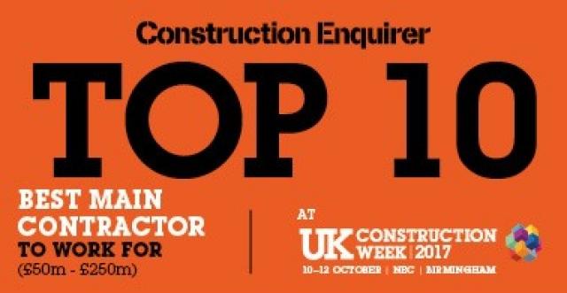 We've been shortlisted for a Construction Enquirer Award