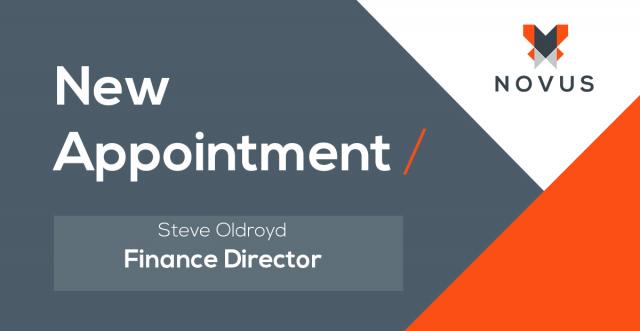 Novus Appoint Steve Oldroyd as Finance Director and Company Secretary