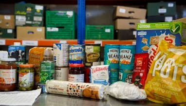 food bank donation in stoke