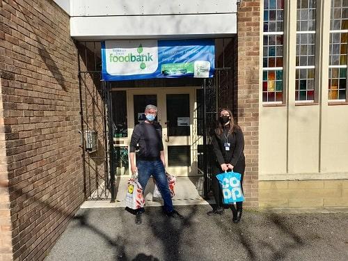 Novus donating to foodbank