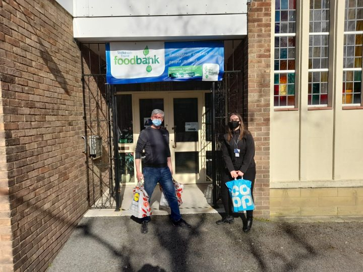 Novus in Stoke supporting their local Food Bank