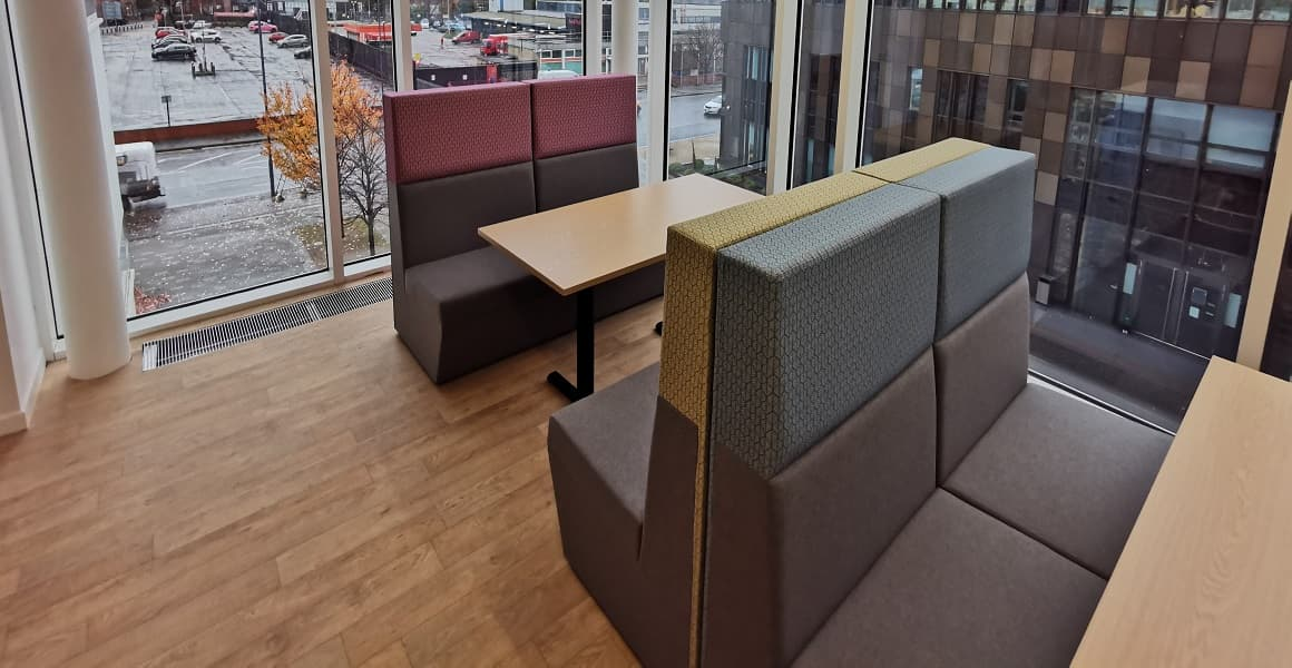 seating area 6th form extension