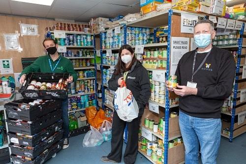 devon office food donation