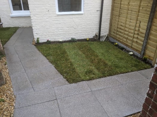 Novus in Southampton go the extra mile improving a communal garden